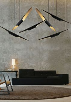 Fluorescent brass pendant #lamp A330 by Artek