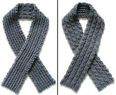 mens scarf crochet pattern | ... Crochet Pattern: Reversible Cable Scarf - Crochet Patterns, Tutorials