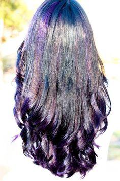 #purple #streaks #hair #longhair