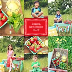 strawberry pic.    I have a turquoise crate like that.  would definately pose things differently, but some of the props may be good to add in