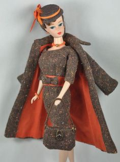 "Handmade Vintage Barbie/Silkstone Fashion by P.Linden 9 pc. ""Autumn Afternoon"""