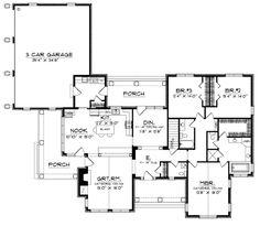 First Floor Plan of European   House Plan 97380