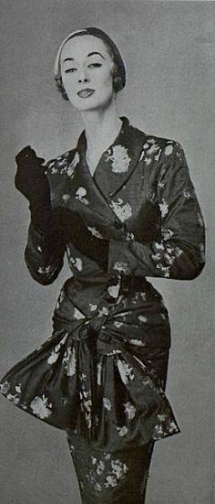 Nina Ricci day dress 1955