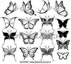 vlinder tattoo klein - Google zoeken