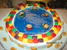 Homemade Swimming Pool Birthday Cake: I created this homemade swimming pool birthday cake for my brother Omar's Birthday. My brother has a swimming pool business and I thought it will be nice