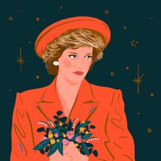 Princess Diana / Woman Crush Wednesday Illustration Series by Monique Aimee Character Illustration, Illustration Art, New Artists, Princess Diana, Love Art, Art Images, Anime, Art Prints, Lady