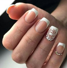 #french #manicure #nail #art #designs