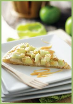 Pampered Chef Recipe:  Caramel Apple Pizza