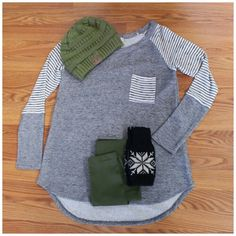 French terry comfort #tunic #leggings #beanie #shopbellame