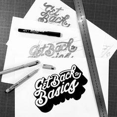 WEBSTA @ tarwane - Get back to basics. ✍️ #sketch #process #stepbystep #getbacktobasics #wip #type #typo #typography #typographie #font #lettering #handlettering #logo #customlettering #customtype #dailytype #todaystype #typeoftheday #posca #tarwane