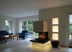 I want fire in my house, love this clean style