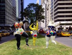Nicki De Saint  Phalle on Park Ave,