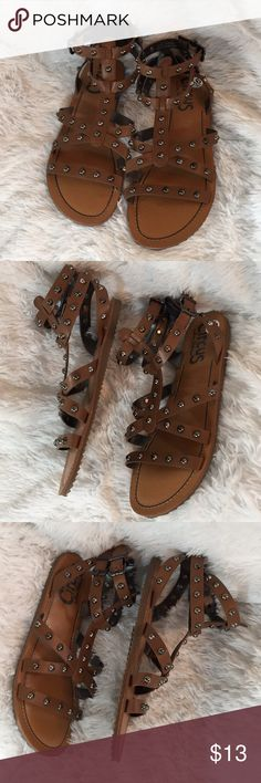 {Circus Sam Edelman} Studded Gladiator Sandals Authentic  Circus Sam Edelman  Size 9.5  Originally $25 Used Excellent condition  Brown studded Shoes Sandals