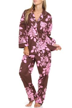Chocolate And Pink Comfy PJ'S.