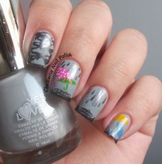 The Clockwise Nail Polish: Sunday Stamping Challenge: Winter Memories of my Childhood