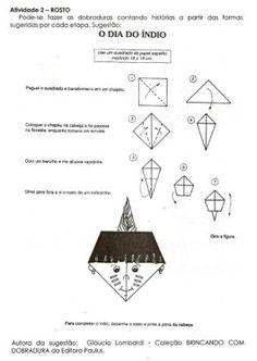 Baú das Dobraduras: Origami 2: Índio (rosto)