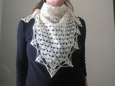 A Classic Triangle Shawl || Free PDF  Simple two-row repeat works up quickly, and it's finished with a sweet edging. Hook: 4.0 mm (G)  RH Heart & Sole: Fingering - Yardage: 400 - 1000 yards (366 - 914 m)   from Ravelry
