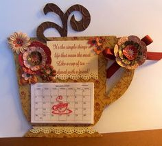 Recycled cereal box calendars