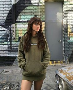 girl, kelsey calemine, and fatherkels imageの画像 Kelsey Calemine, Robes Glamour, Looks Style, My Style, Supreme Hoodie, Tumbrl Girls, Grunge Hair, Mode Inspiration, Hairstyles With Bangs