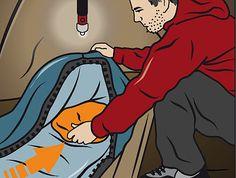 Fußteil vom Schlafsack vorwärmen gegen kalte Zeltnächte