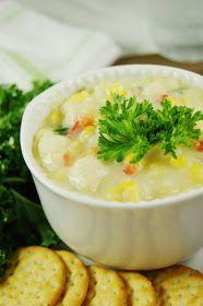 The Kitchen is My Playground: Creamy Chicken Corn Chowder