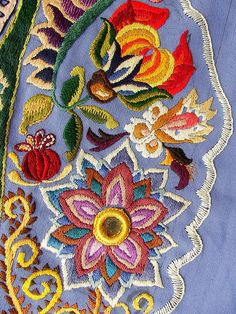 Detail of hand embroidery by Smallest Forest, via Flickr