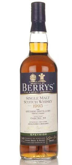Berry´ & Speyside Distillery 18 Year Old 1995 scotch whisky
