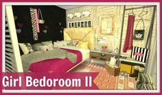 Girl Bedroom II at Dinha Gamer • Sims 4 Updates