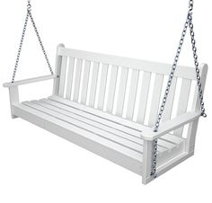 The Polywood Vineyard Recycled Plastic 5 ft. Porch Swing is perfect for your taste. We tend to believe that a front porch just isn't complete until. Porch Bench, Bench Swing, Swing Seat, Porch Swings, Swing Chairs, Rocking Chairs, Diy Outdoor Furniture, Outdoor Decor, Outdoor Living
