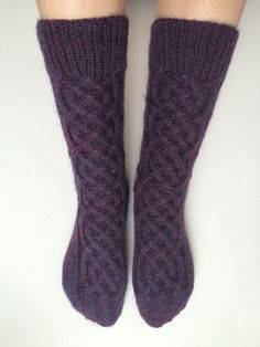 NEW Celtic Cable Socks / Wool Knit Socks / Boot-Cut by VUISVUIS