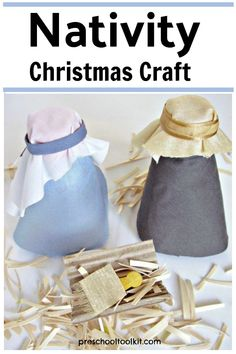 Celebrate Christmas with this nativity craft for preschoolers and older kids too! Kids can create a nativity scene with reycled materials and basic craft materials. #christmascraftsforkids #preschoolcrafts Nativity Crafts, Christmas Nativity, Christmas Crafts For Kids, Simple Christmas, Holiday Crafts, Craft Materials, Preschool Crafts, Christmas Crafts For Children, Nativity