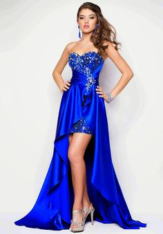 LondonProm @ Sequined Evening Dresses party full length prom gown ball dress robe High Low A-line Strapless Gold High Low Gown, High Low Prom Dresses, Homecoming Dresses, Strapless Dress Formal, Formal Dresses, Dress Prom, Sleeveless Dresses, Sexy Dresses, Bridesmaid Dresses