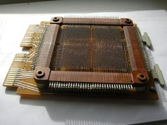 USSR Magnetic Ferrite Core Memory plate 4096b & diode array Saratov-2 PDP8 clone in Computers/Tablets & Networking, Vintage Computing, Vintage Computers & Mainframes | eBay