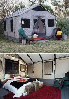 Safari Tent for Camping! #glampinggear