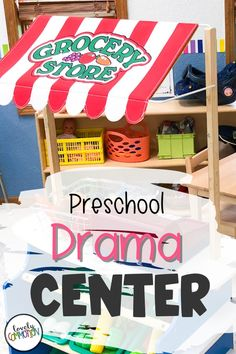 The Dramatic Play Center in a preschool classroom is a place for children to pretend, use imaginations and work with peers. See what is inside my Drama Center. Preschool Centers, Preschool Classroom, Play Based Learning, Learning Centers, Classroom Organization, Organization Ideas, Home Themes, Dramatic Play Centers, Office Themes