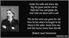 Robert Louis Stevenson - Under the Wide and Starry Sky