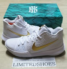 official photos ceb4d 6f6b9 (eBay Sponsored) NIKE KYRIE 3 FINALS WHITE GOLD 852395-902 MENS US 13