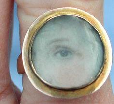 Eye Portrait Miniature Ring, Georgian 1790-1815