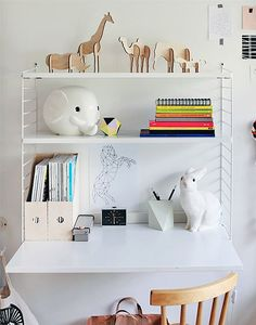 Modern and Minimal Wall Shelves for Kids' Rooms - The String Shelf
