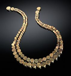 Charming Necklace ,Vicki Eisenfeld, Gold Married Metals.
