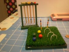 My sister, Dianne bought this tiny croquet set for me.