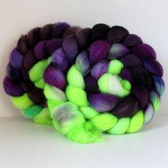 BFL Roving for Spinning or Felting Wool Fiber by SpunRightRound