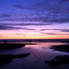 Sunset at Trebarwith Strand, Cornwall England