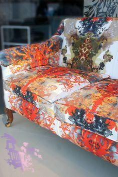 Timorous Beasties Fabric - Grand Blotch Damask