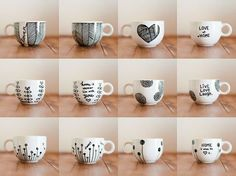 drawing on coffee cups with sharpies - Google Search