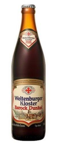 Cerveja Weltenburger Kloster Barock Dunkel, estilo Munich Dunkel, produzida por Cervejaria Petrópolis, Alemanha. 4.7% ABV de álcool.