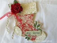 Sew Creative: Kaisercraft ~ Christmas carol Collection ~ Christmas Stocking Card