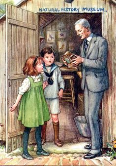 The Creepy Crawly Clock, Cicely Mary Barker. In 'The Indoor Story Book', Blackie
