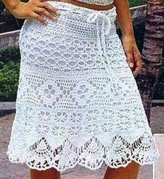 Delicadezas en crochet Gabriela: 100 Faldas con moldes gratis en ganchillo