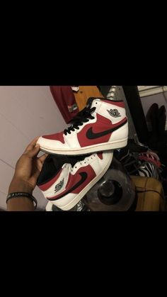c41201dd94f Jordan retro Carmine 1s Size 8  fashion  clothing  shoes  accessories   kidsclothingshoesaccs